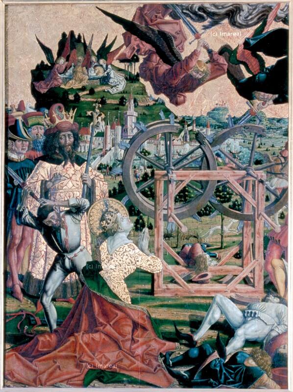 Bestattung der Hl. Katharina von Pacher Friedrich