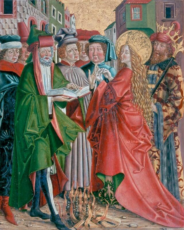 Disputation der Hl. Katharina mit den Philosophen von Pacher Friedrich