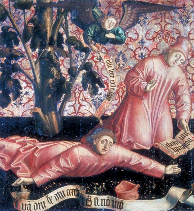 Hl. Augustinus beweint unter einem Feigenbaum seine Entschlußlosigkeit von Meister von Uttenheim