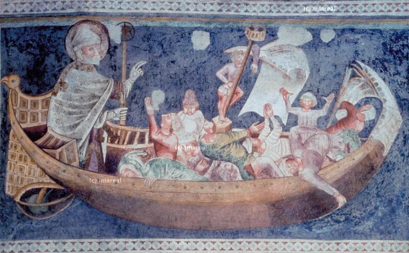 Hl. Nikolaus errettet ein Schiff aus Seenot von Stocinger Hans
