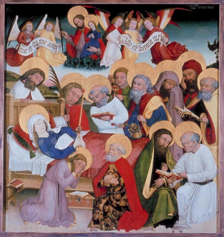 Tod Mariens von Meister des Klosterneuburger Stephansaltars