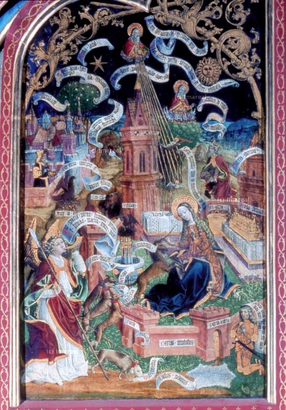 Hl. Maria im Hortus conclusus von