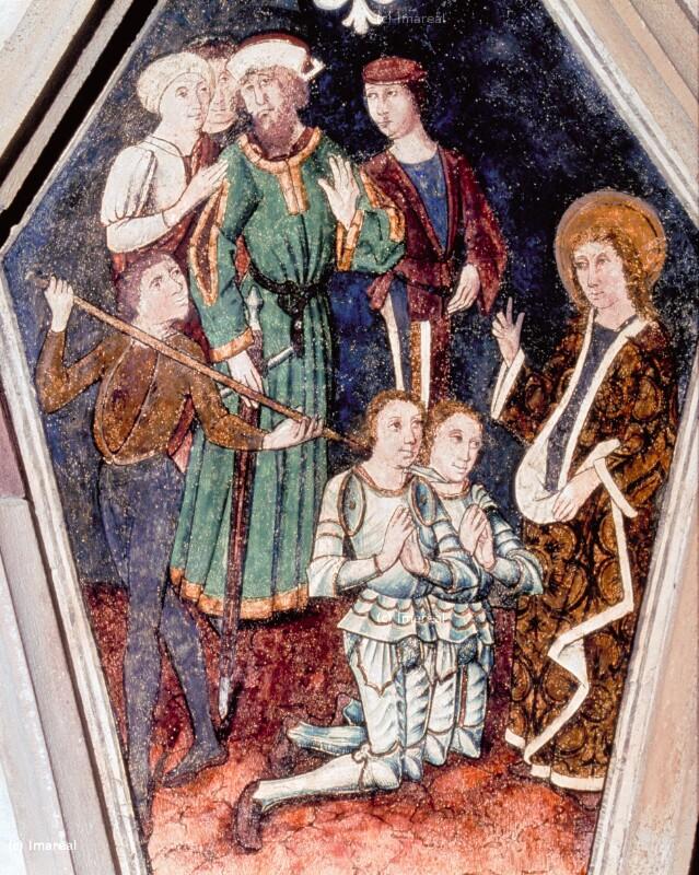 Hl. Sebastian bestärkt Marcus und Marcellianus im Glauben von Waider Conrad