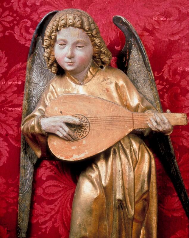 Engel musizierend von Pacher Michael
