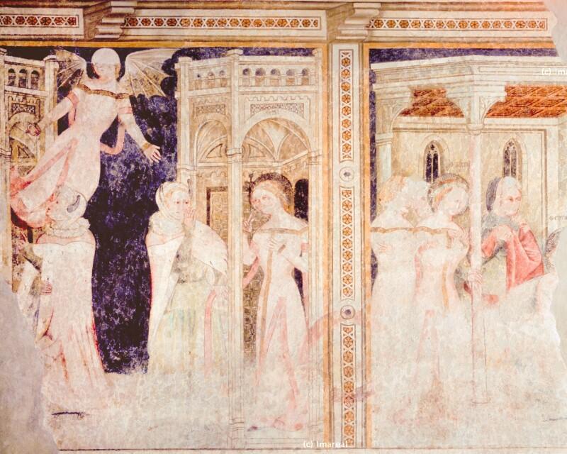 Hl. Cyprian wirbt um die Hl. Justina von Meister der Vigilius-Legende am Virgl