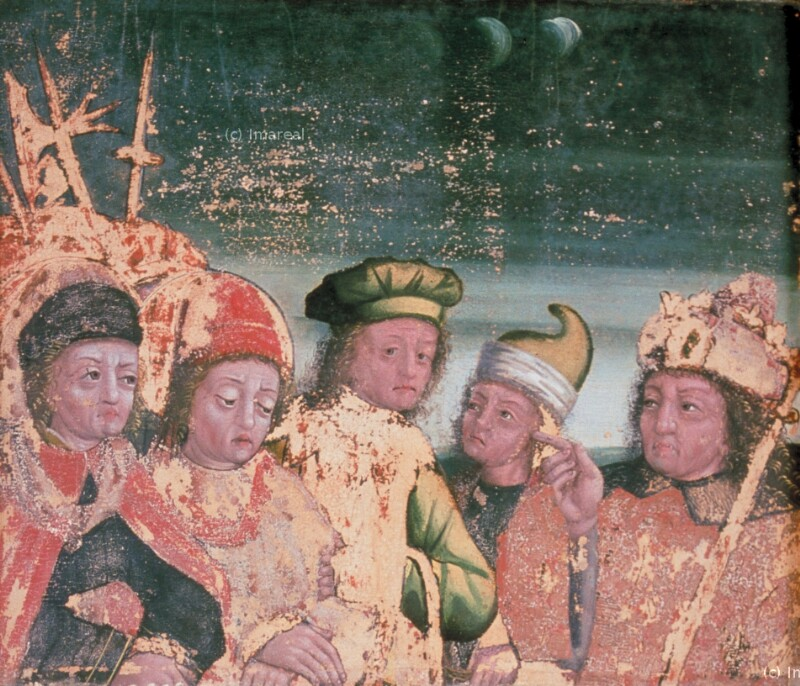 Die Hll. Kosmas und Damian vor dem Präfekten Lysias