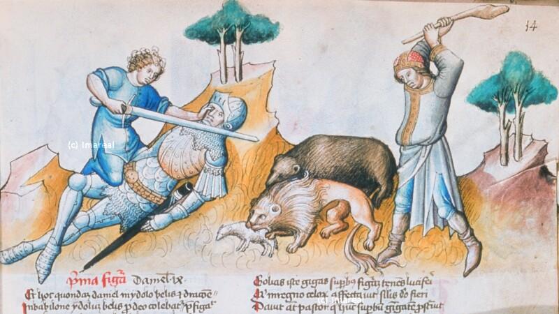 David tötet Goliat von