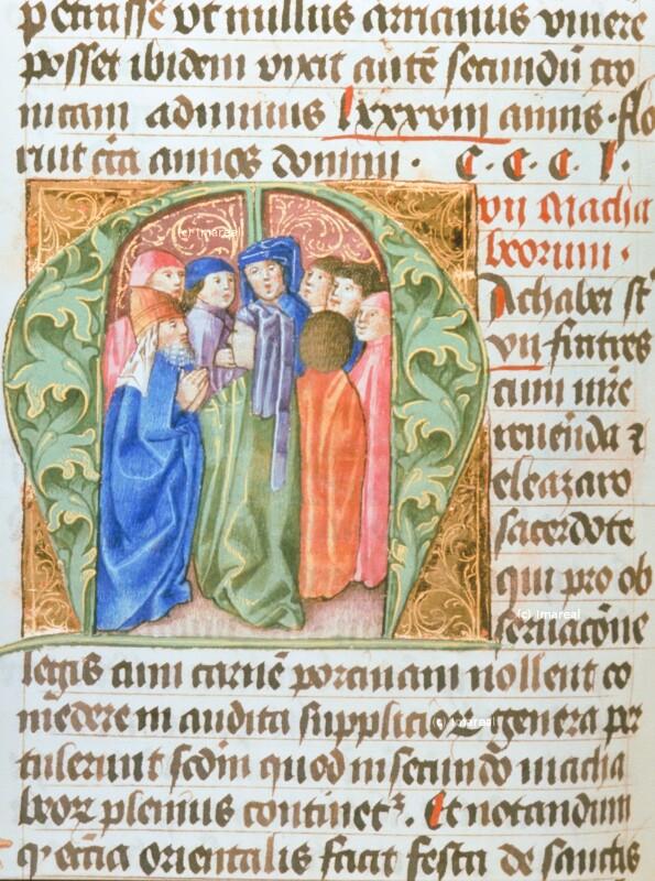 Eleasar und die Makkabäischen Brüder von Hofwerkstatt Friedrichs III.