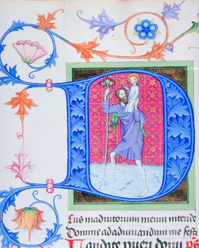 Hl. Christophorus von Albrechtsminiator