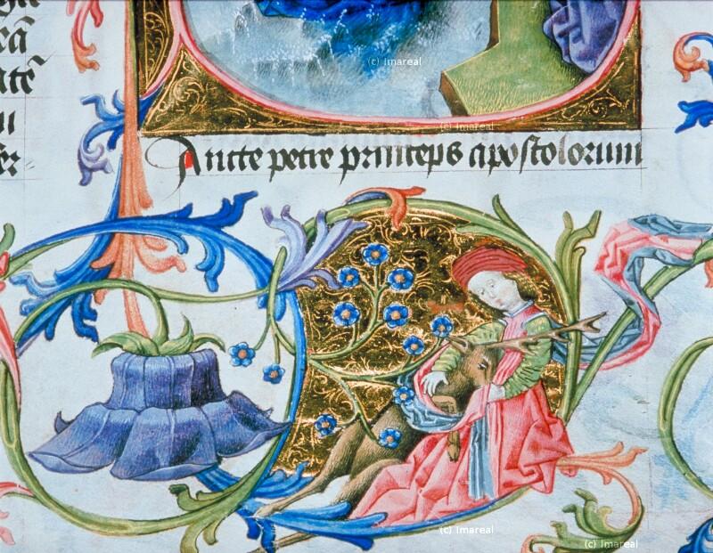 Jungfrau mit Einhorn von Martinus Opifex