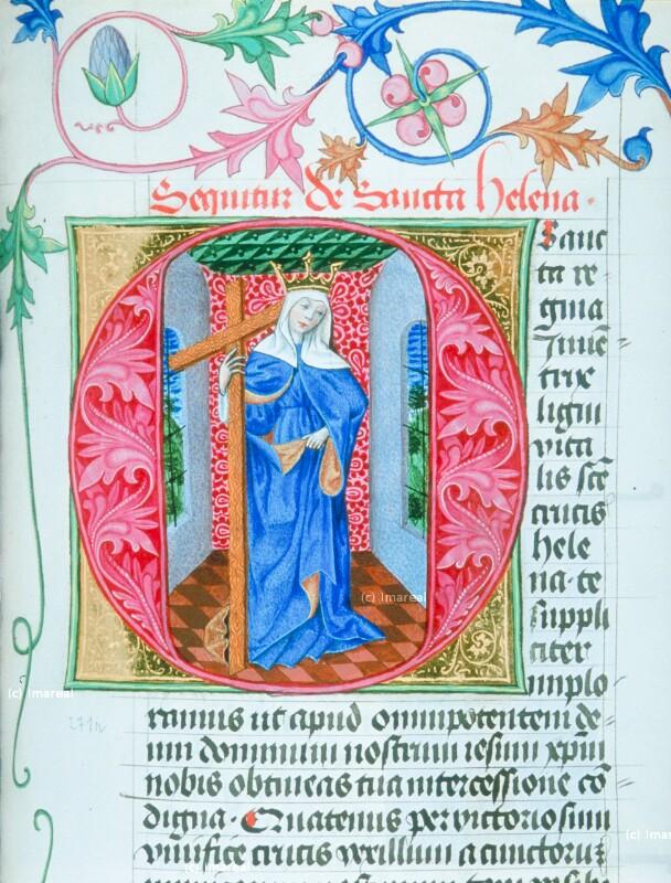Hl. Helena von Meister der Klosterneuburger Missalien