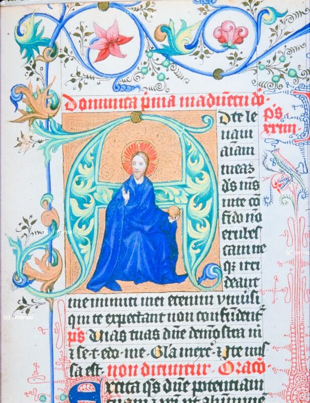 Christus thronend von Meister des Hasenburg-Missales