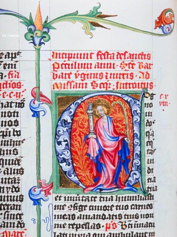 Hl. Barbara von Meister des Hasenburg-Missales