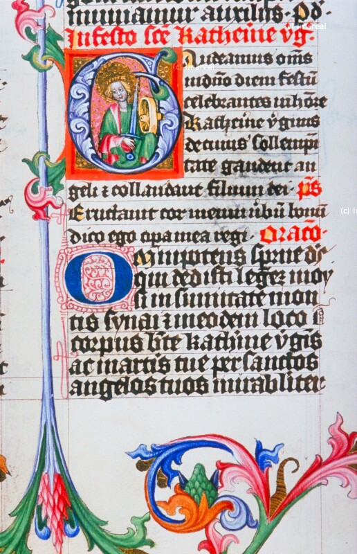Hl. Katharina von Meister des Hasenburg-Missales