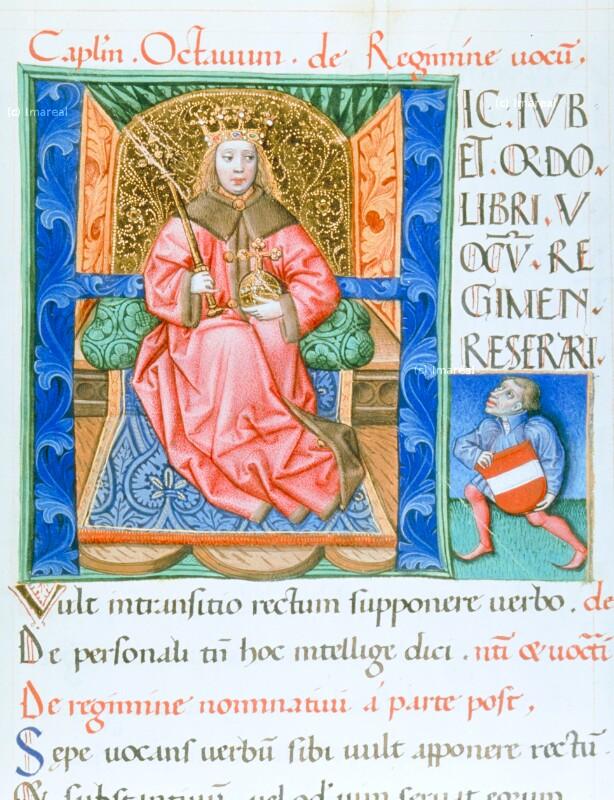 König thronend von Lehrbücher-Meister