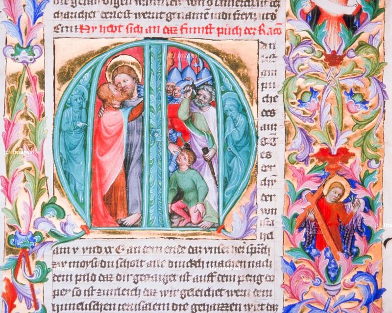 Engel mit Arma Christi von Hofminiatoren-Werkstatt