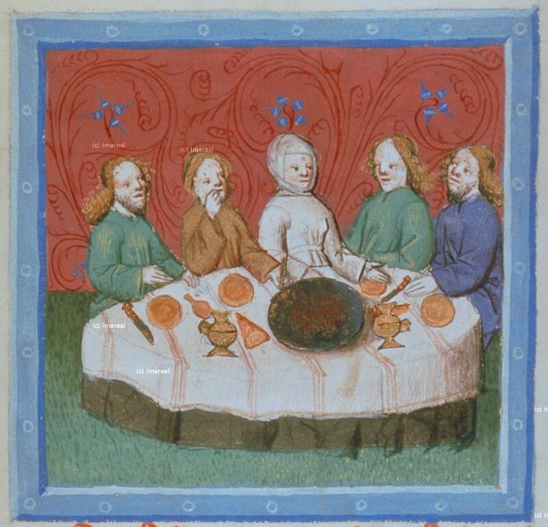 Jakob und Esau speisen