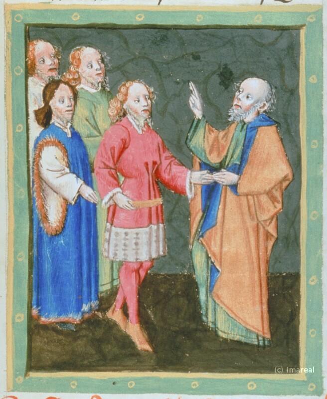 Jakob segnet seine Söhne