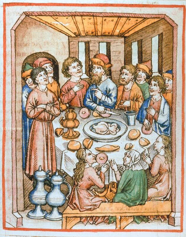 Mahl zu Ehren des Tobias von Maler zu Urach