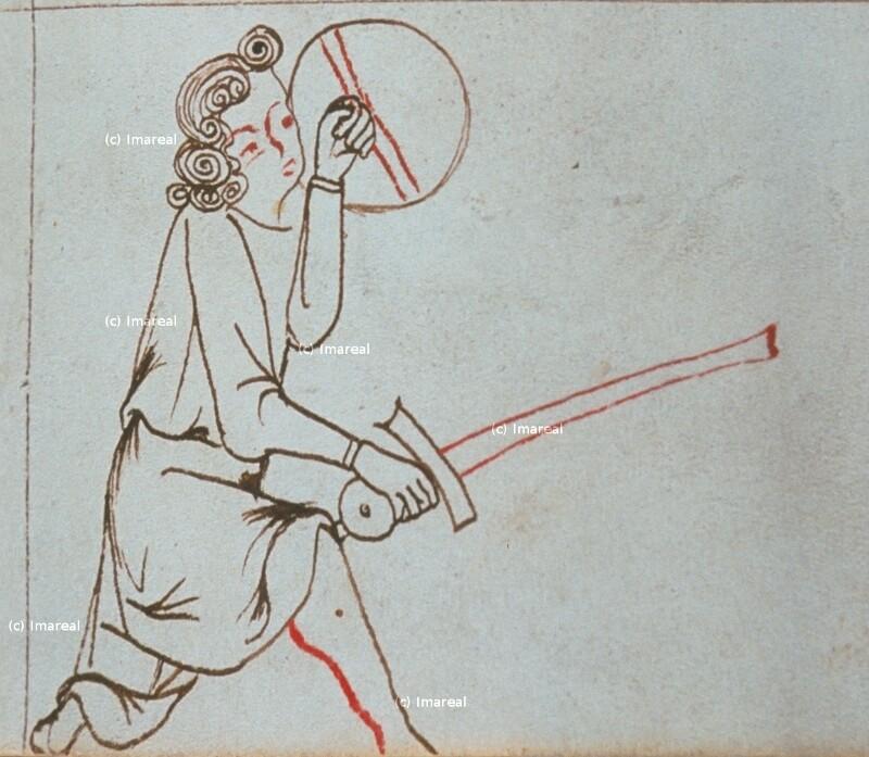 Mann mit Schwert und Schild