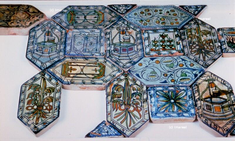 Bodenziegel von Palast-Werkstatt Ofen