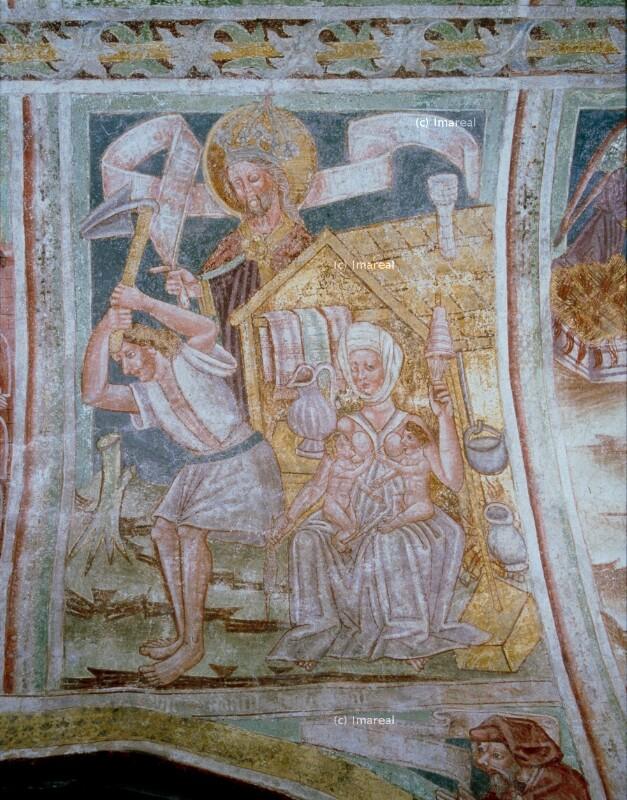 Adam und Eva bei der Arbeit von Johannes von Kastav