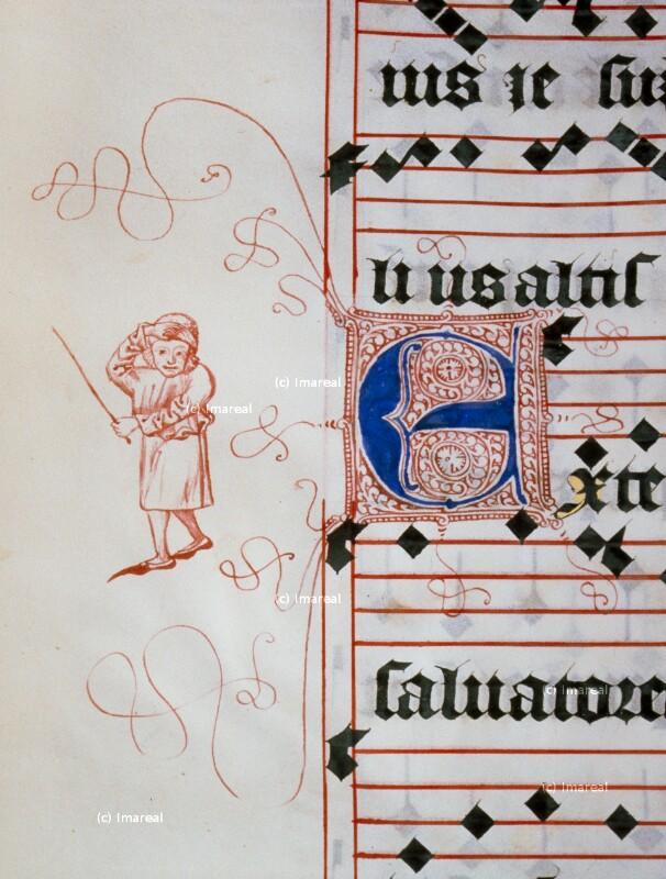 Mann mit Peitsche von Meister Matthäus