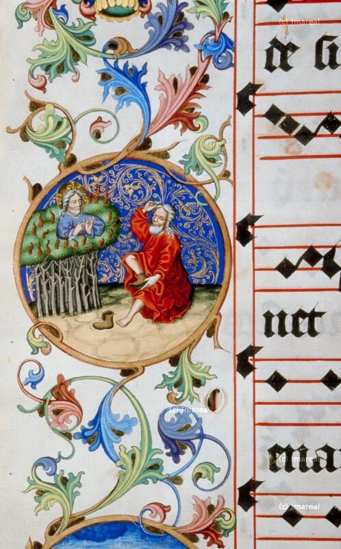 Mose vor dem brennenden Dornbusch von Meister Matthäus