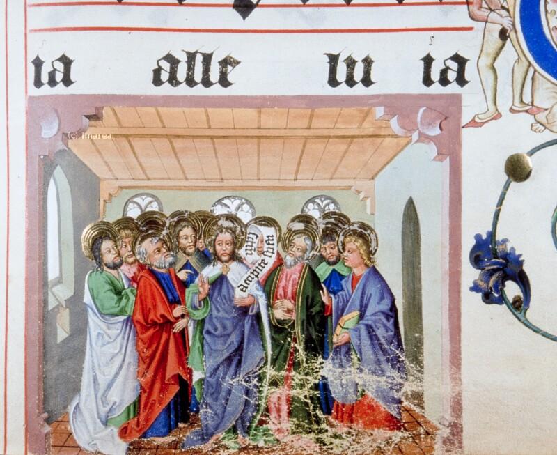 Christus erscheint den Jüngern von Meister Matthäus