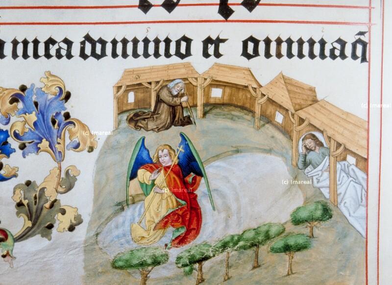Engel mit Einsiedler von Meister Matthäus