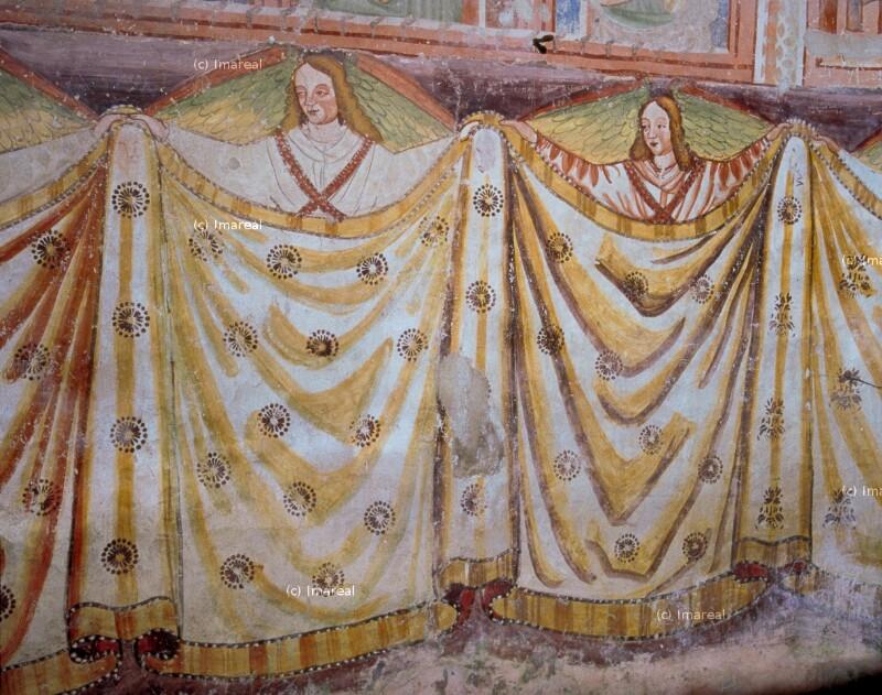 Engel mit Vorhang von Bartholomäus von Loka