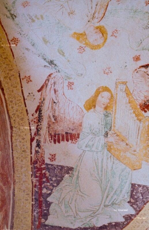 Engel mit Orgelportativ