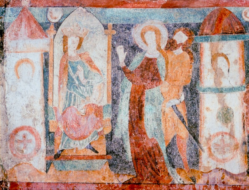 Hl. Katharina vor Maxentius