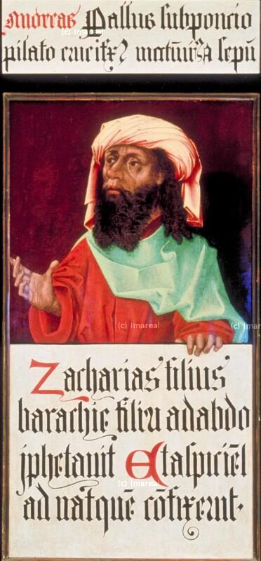Sacharja von Meister des Schottenaltars-Umkreis