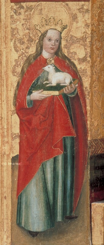 Hl. Agnes von Meister des Dreikönigsaltars von Paludzka
