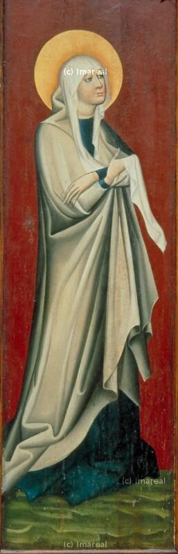 Hl. Maria von Meister des Triptychons von Strazky