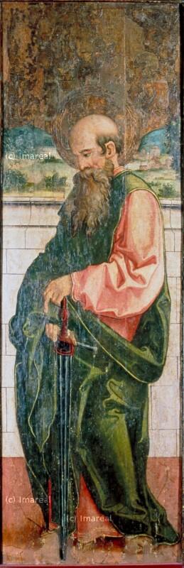Hl. Paulus von Meister des Barbaraaltars von Banská Bystrica-Umkreis