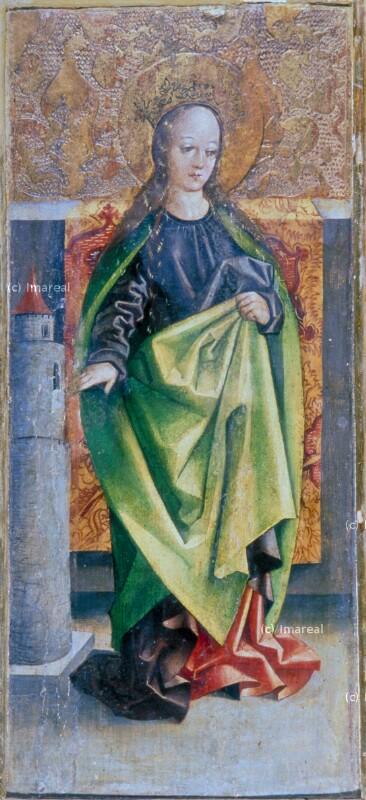 Hl. Barbara von Meister des Marienaltars von Levoca