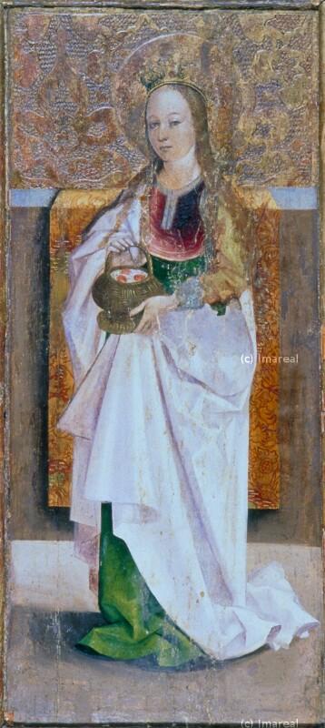 Hl. Dorothea von Meister des Marienaltars von Levoca