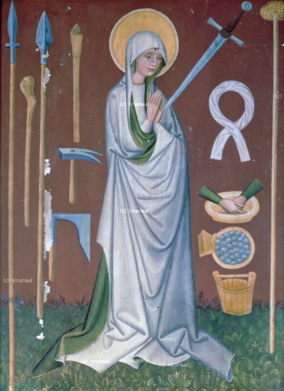 Hl. Maria mit Arma Christi von Meister des Altars von Matejovce