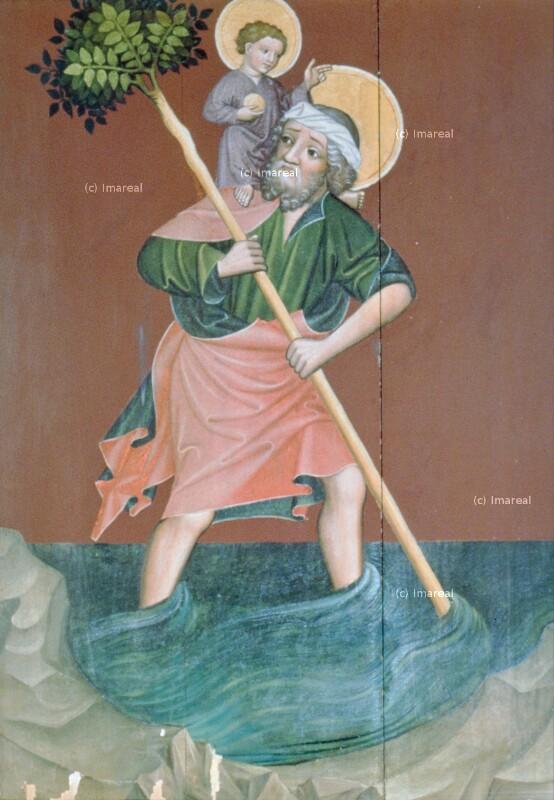 Hl. Christophorus von Meister des Altars von Matejovce