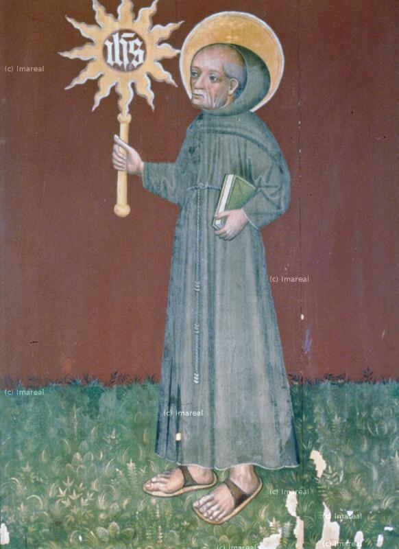 Hl. Bernhardin von Siena von Meister des Altars von Matejovce