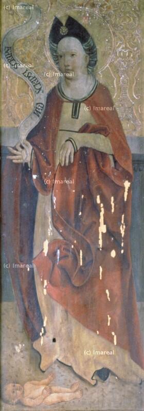 Weibliche Heilige von Meister der Georgenberger Antoniuslegende