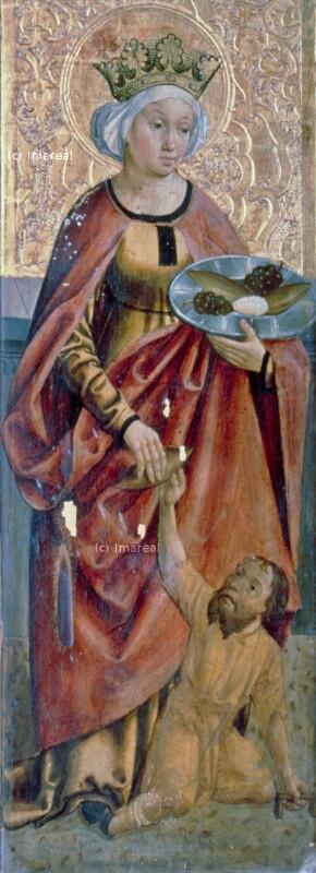 Hl. Elisabeth von Thüringen von Meister der Georgenberger Antoniuslegende