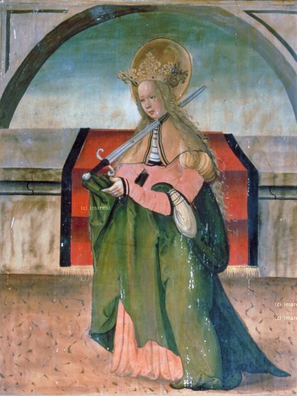 Hl. Lucia von Meister der Georgenberger Antoniuslegende