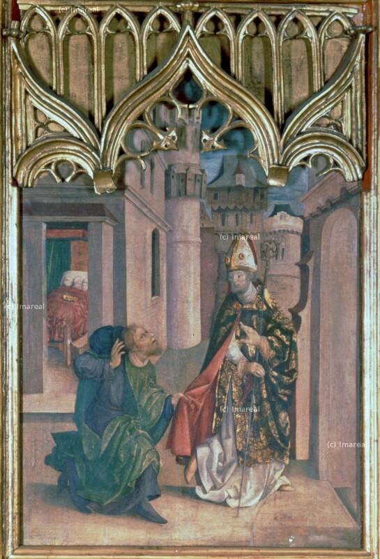 Hl. Nikolaus beschenkt drei Jungfrauen