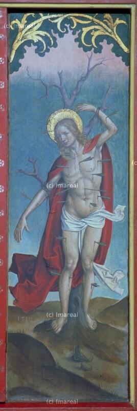 Hl. Sebastian von Meister von Okolicné-Umkreis