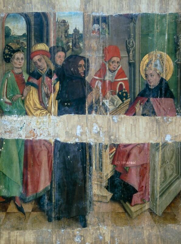 Disputation des Hl. Augustinus im Tempel von