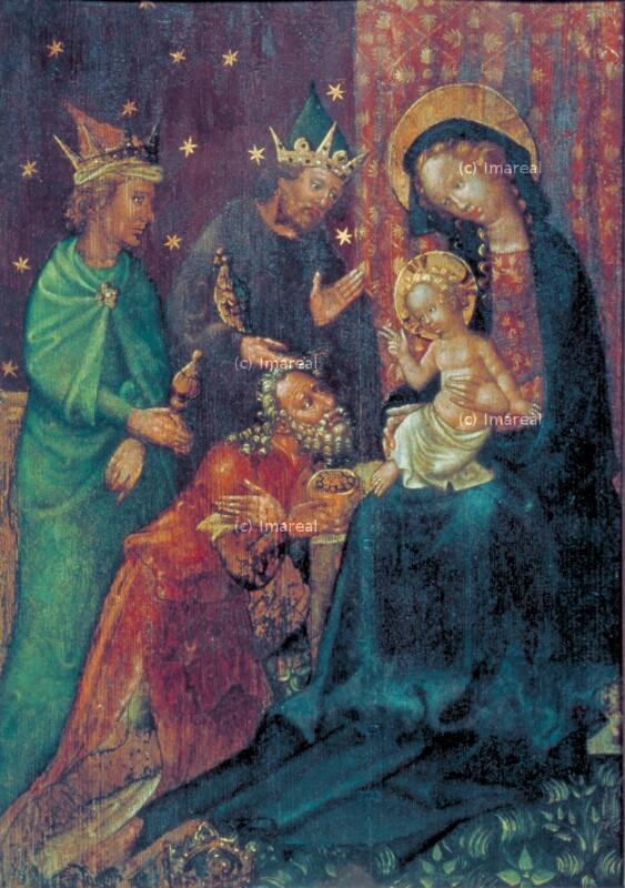 Anbetung der Könige von Meister der Linzer Kreuzigung