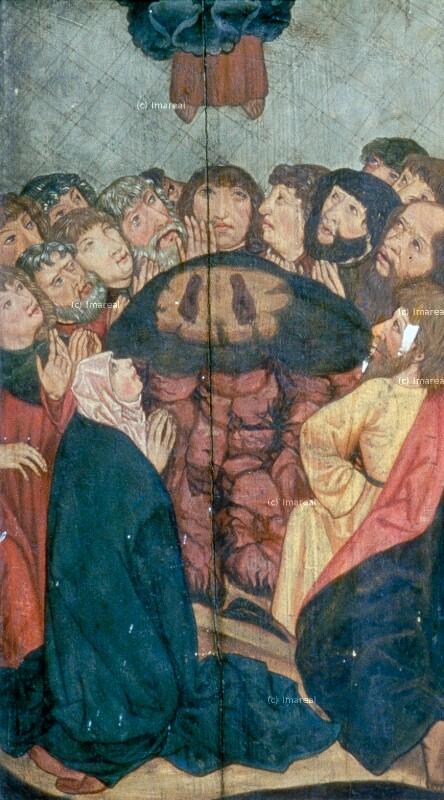 Himmelfahrt Christi von Meister des Veiprnice Altars